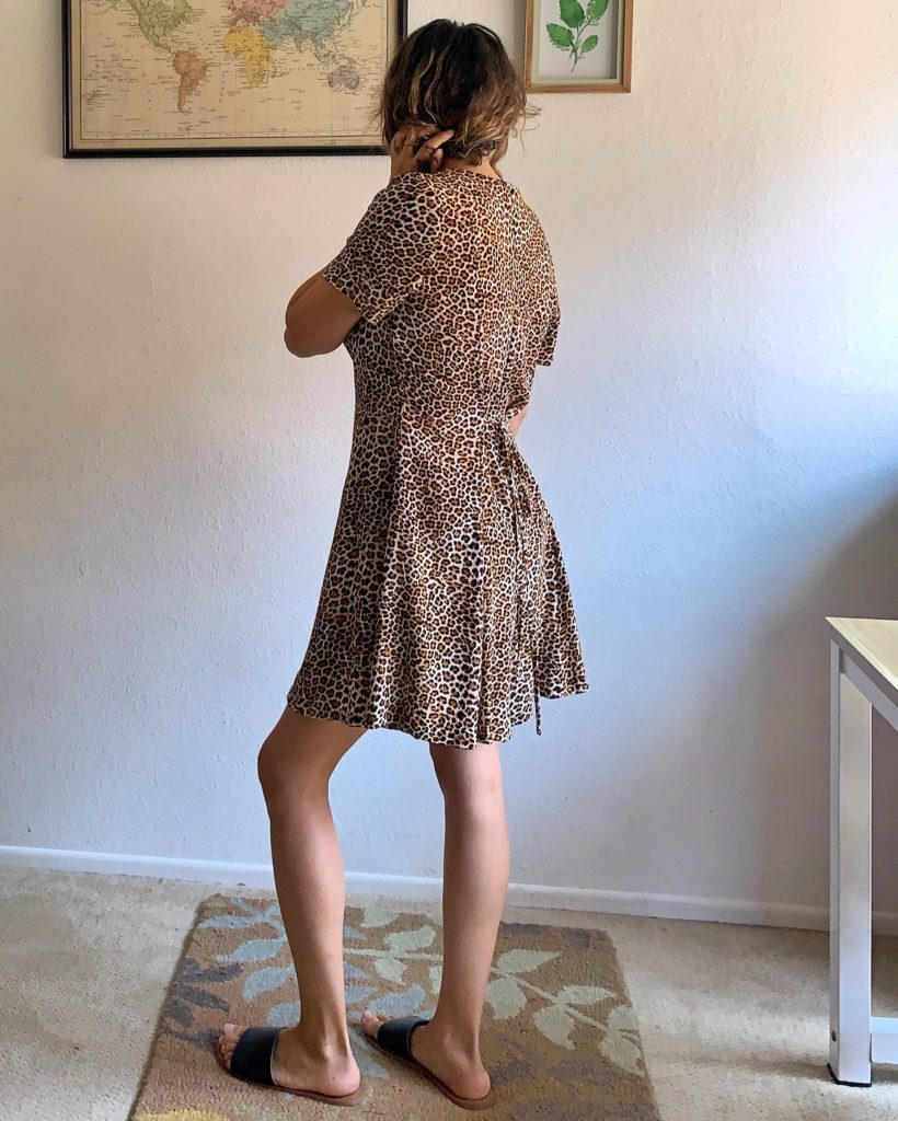 Back view of my animal print Shelby Romper